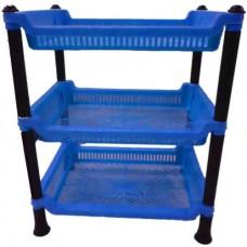 3 Tier Plastic basket shelf Storage Rack