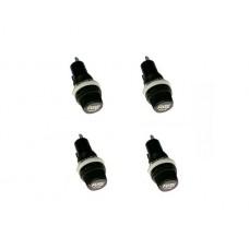 Chassis Panel Mount Fuse Holder Socket for 5*20 Glass Fuses 250V 10A Set of 4