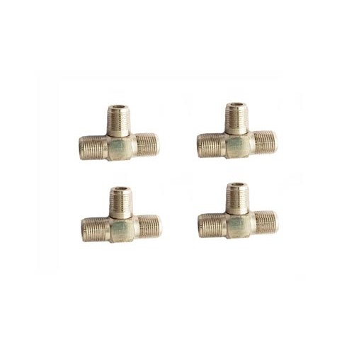 3-Way F-Type RG6 RG59 Cable Splitter Combiner TV Cable Satellite 4pcs