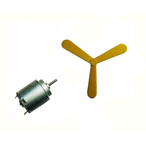 3 Blade Fan Propeller + 9v Motor For DIY Projects Set of 1 70mm+70mm x 15mm