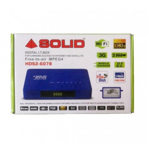 SOLID HDS2-6078 DVB-S2, FullHD, MPEG-4 Set-Top Box