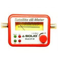 Solid SF-48 Analog Satellite dB Meter + Cable